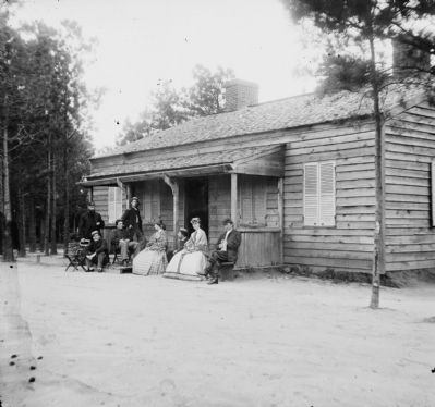 Drewry's Bluff, Virginia. Officer's quarters. 1st Conn. Heavy Artillery, Fort Darling image. Click for full size.
