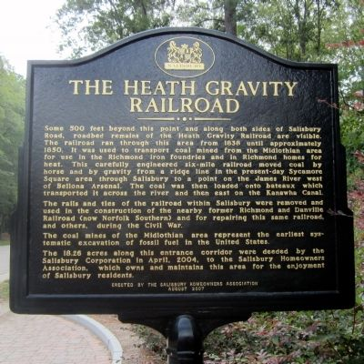 The Heath Gravity Railroad Marker image. Click for full size.
