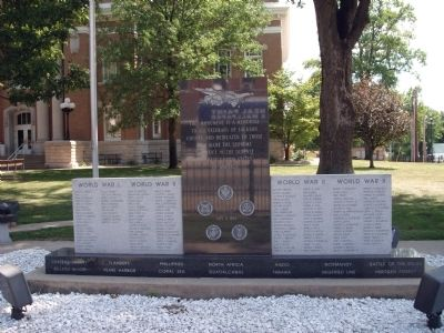 Full - Front - - All Veterans Honor Roll Memorial Marker image. Click for full size.