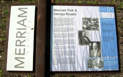Merriam Park & George Kessler Marker image. Click for full size.