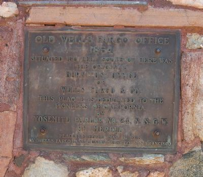 Old Wells Fargo Office Marker image. Click for full size.