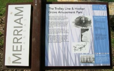 The Trolley Line & Hocker Grove Amusement Park Marker image. Click for full size.