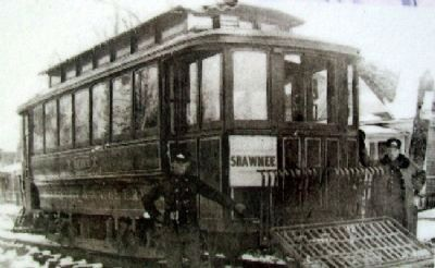 Trolley Photo on Hocker Grove Amusement Park Marker image. Click for full size.