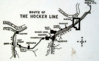 Trolley Line Map on Hocker Grove Amusement Park Marker image. Click for full size.