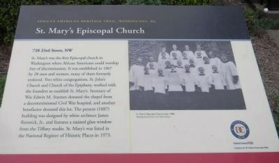 St. Mary's Episcopal Church Marker Panel 1 image. Click for full size.