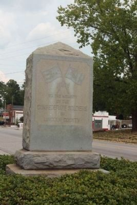 Lincoln County Confederate Soldiers Memorial image. Click for full size.