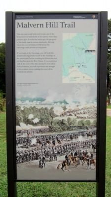 Malvern Hill Trail Marker image. Click for full size.