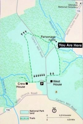 Malvern Hill Trail Map image. Click for full size.
