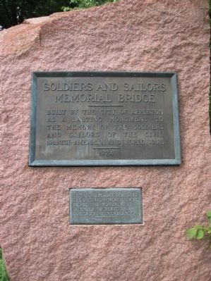 Soldiers and Sailors Memorial Bridge Marker image. Click for full size.
