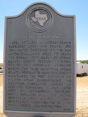 Specht's Crossing Marker image. Click for full size.