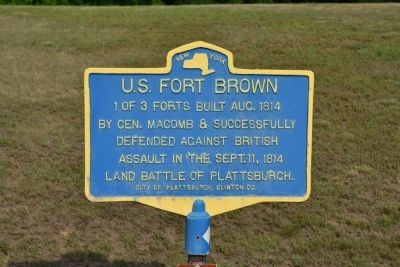 U.S. Fort Brown Marker image. Click for full size.