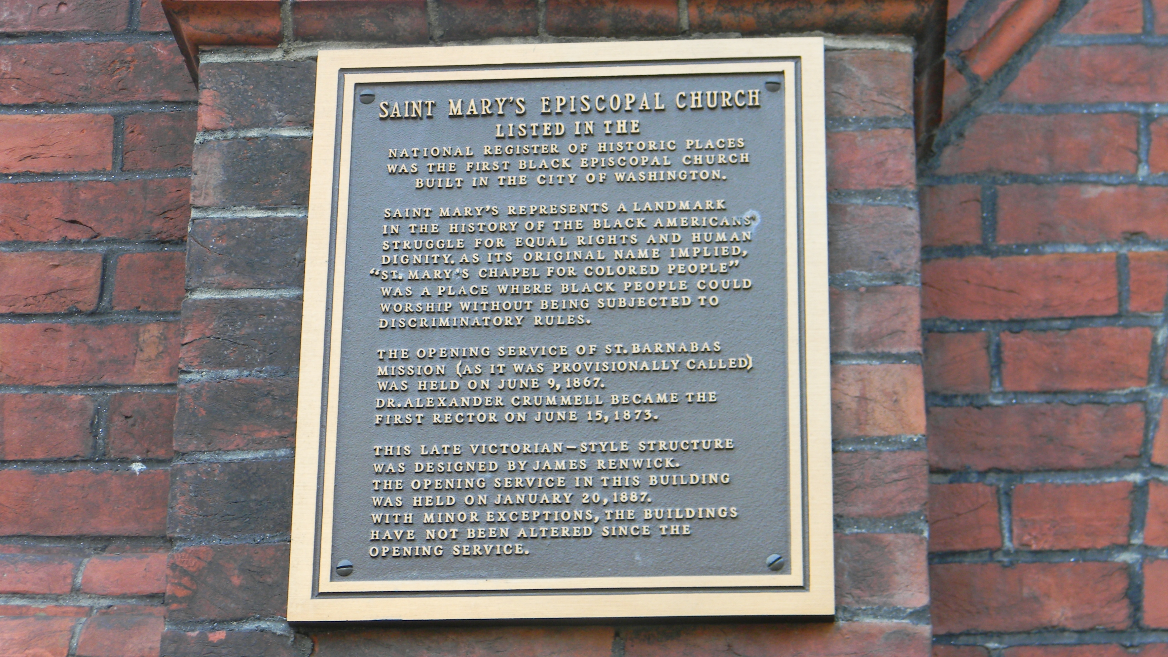 St. Mary's Episcopal Church Marker Panel 2