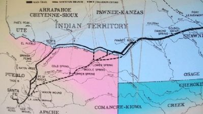 Santa Fe Trail Map on Marker image. Click for full size.