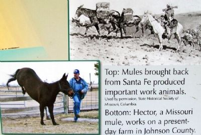 Photos on Santa Fe Trail Marker image. Click for full size.