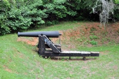 Confederate Cannon image. Click for full size.