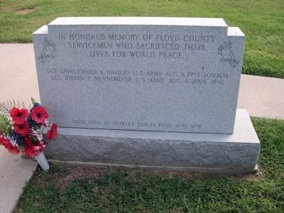 Floyd County World Peace Honor Roll Marker image. Click for full size.