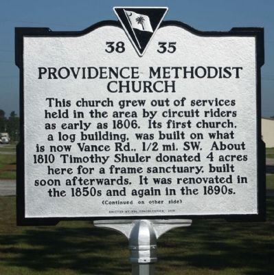 Providence Methodist Church Marker image. Click for full size.