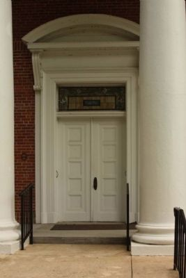 National Register Medallion seen at left of door image. Click for full size.