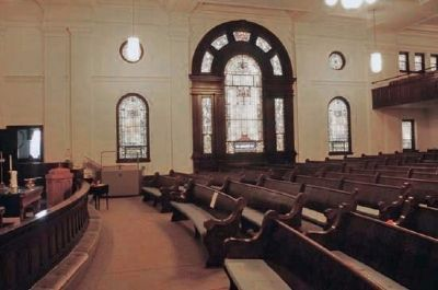 Providence Methodist Church, Interior-Palladian Window image. Click for full size.