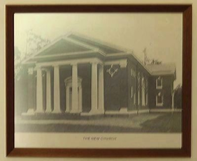 Providence Methodist Church old photo of the new church, found inside image. Click for full size.