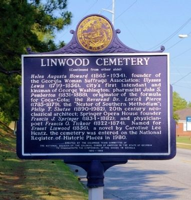 Linwood Cemetery Marker, Side 2 image. Click for full size.