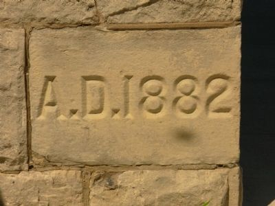 St. Mary's Church Cornerstone image. Click for full size.