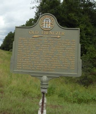 Old Ebenezer Marker image. Click for full size.
