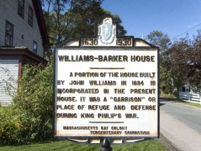 Williams-Barker House Marker image. Click for full size.
