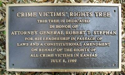 Crime Victims' Rights Tree Marker image. Click for full size.