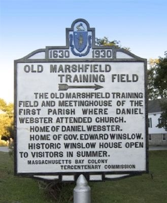 Old Marshfield Training Field Marker image. Click for full size.