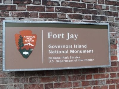 Another Fort Jay Marker image. Click for full size.