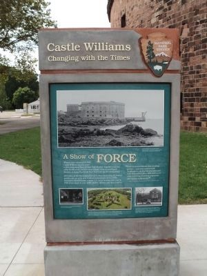 Castle Williams Marker (Side 2) image. Click for full size.
