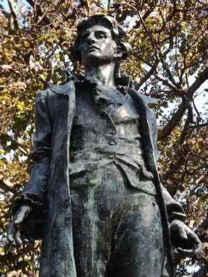 Closeup of Nathan Hale image. Click for full size.