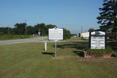 Providence Methodist Church Marker, looking west along Old State Road (U.S. 176) image. Click for full size.