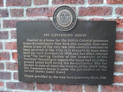 The Governor's House Marker image. Click for full size.