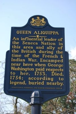Queen Aliquippa Marker image. Click for full size.