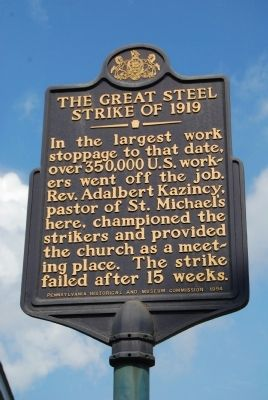 The Great Steel Strike of 1919 Marker image. Click for full size.