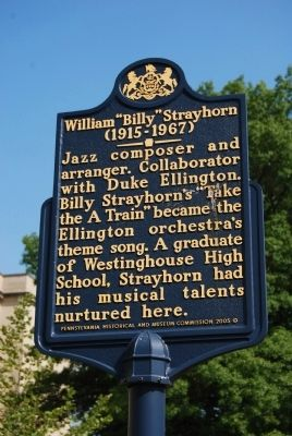 "William ""Billy"" Strayhorn Marker image. Click for full size."