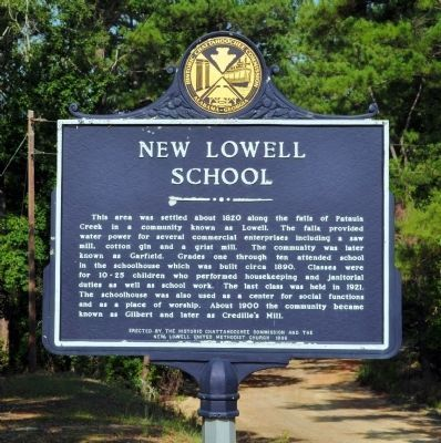 New Lowell School Marker image. Click for full size.