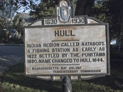 Hull (Main Street and Highland Street) Marker image. Click for full size.
