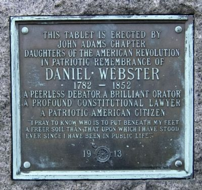 Daniel Webster Tablet image. Click for full size.