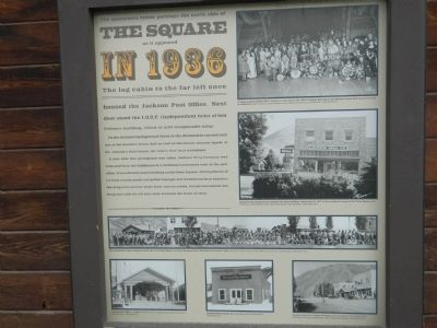 The Square as it appeared in 1936 Marker image. Click for full size.