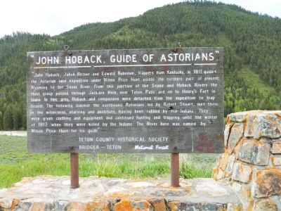 """John Hoback , Guide of Astorians"" Marker image. Click for full size."