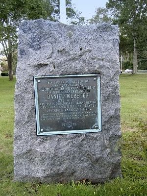 Daniel Webster Tablet Marker image. Click for full size.