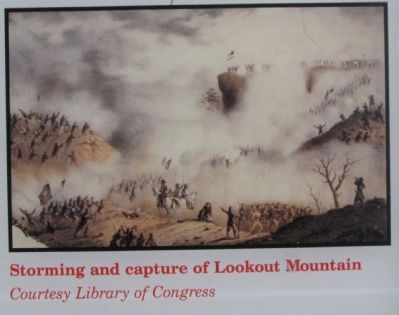 Storming and capture of Lookout Mountain image. Click for full size.
