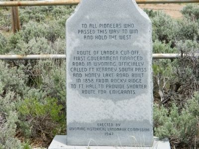 To All Pioneers Who Passed This Way to Win and Hold the West Marker image. Click for full size.