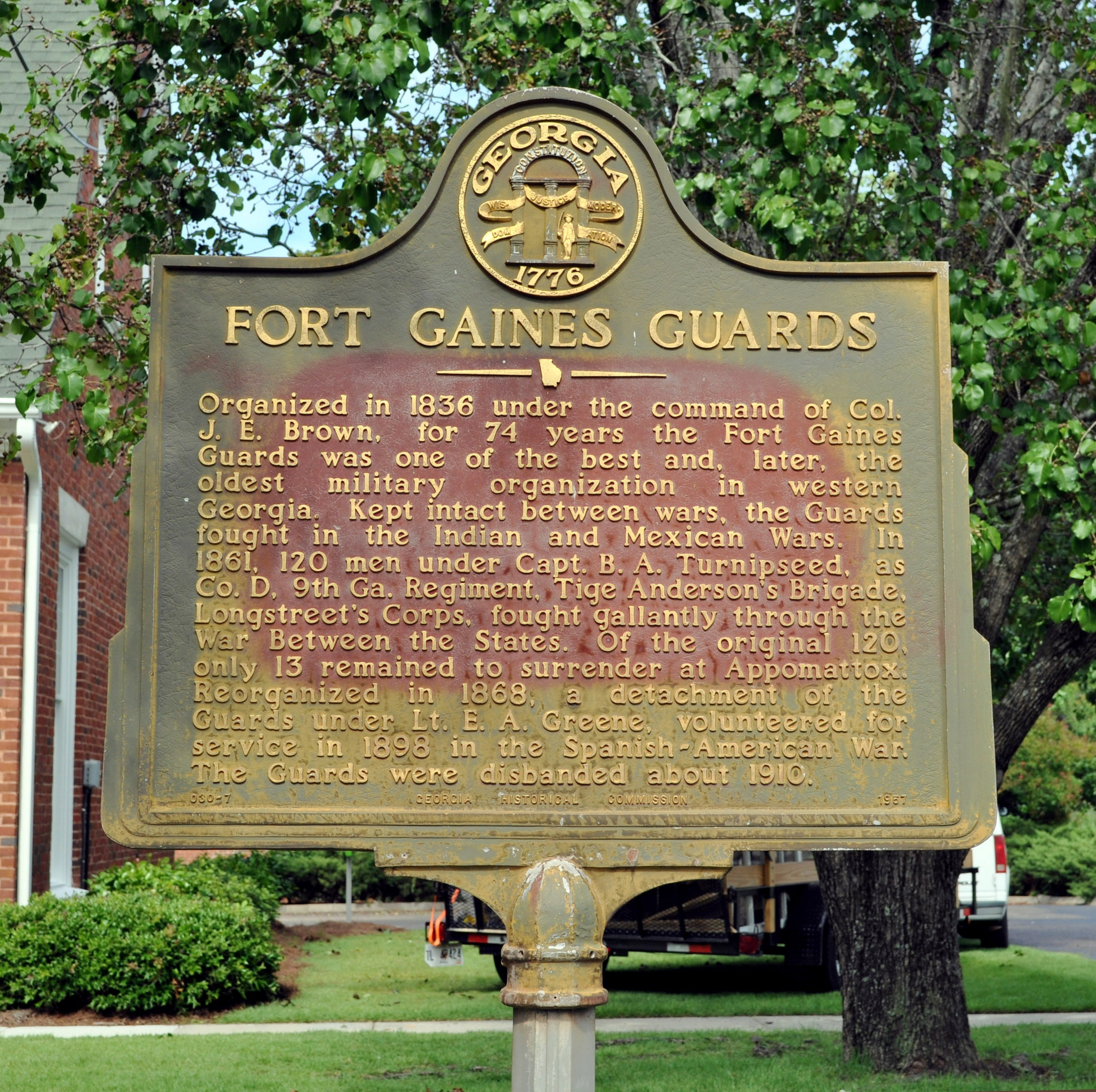 Fort Gaines Guards Marker