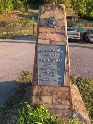 John Ross memorial marker image. Click for full size.