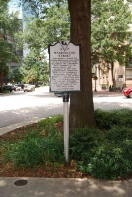 Washington Street Marker image. Click for full size.