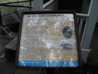 The Dutch and Governors Island Marker image. Click for full size.
